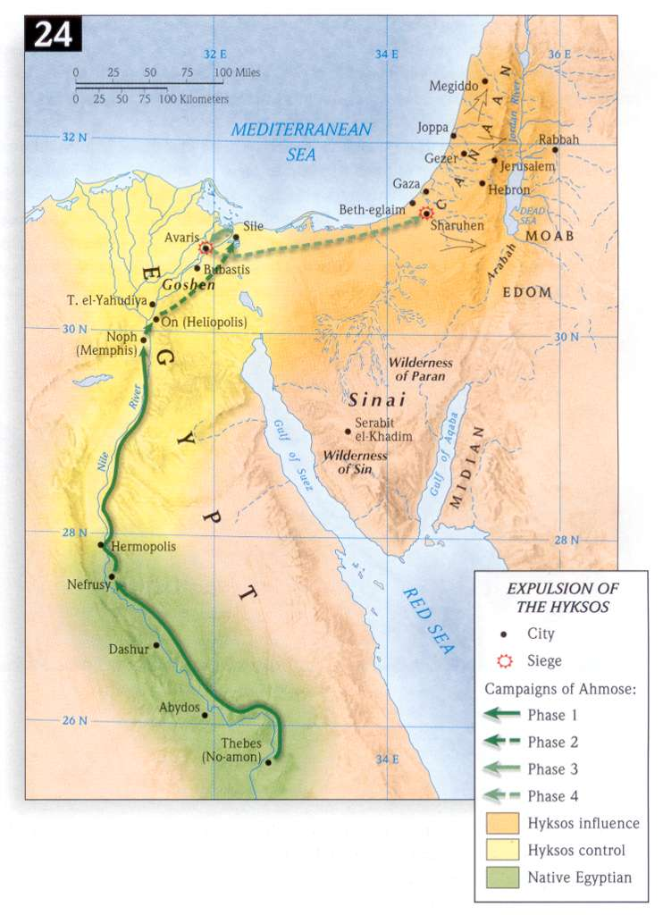 Timeline BC The Exodus - Map of egypt in 1450 bc