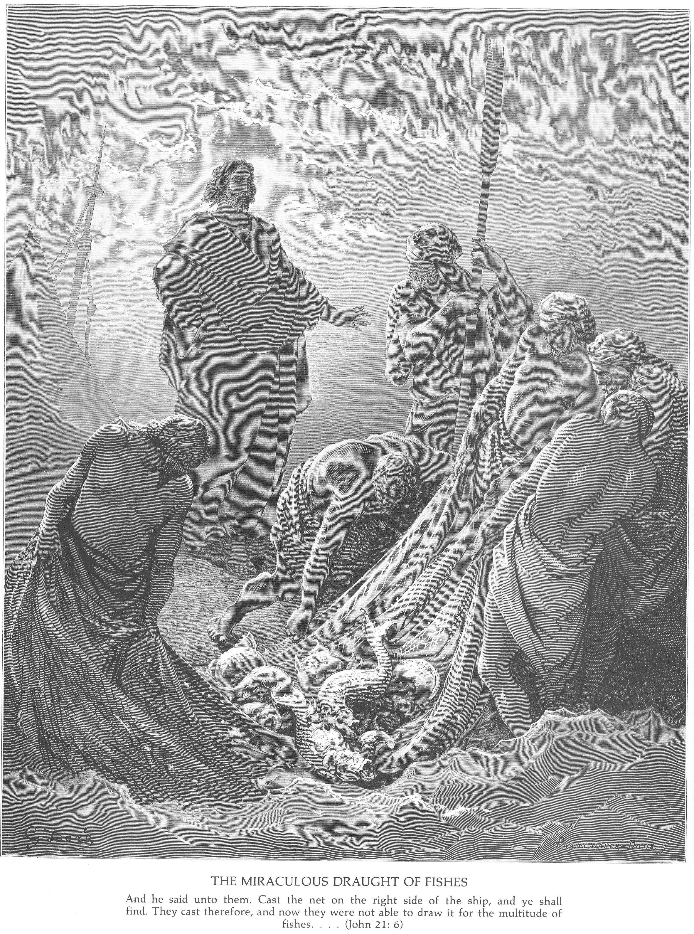 Gustave Dore Bible Gallery - New Testament - John Raising