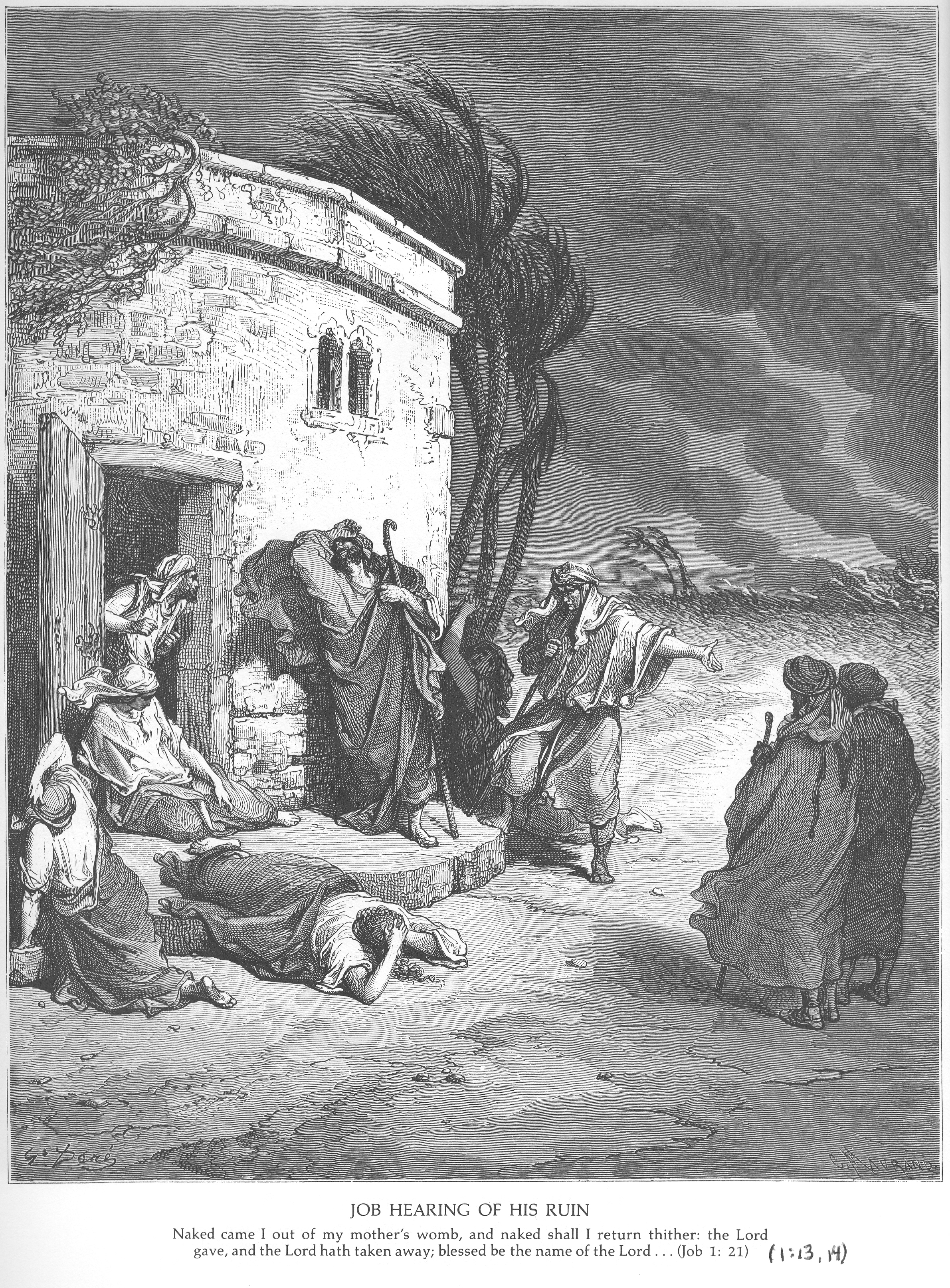 Gustave Dore Bible Gallery - Old Testament - Job